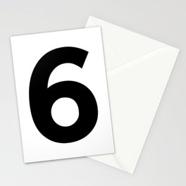 Number 6 (Black & White) Stationery Cards