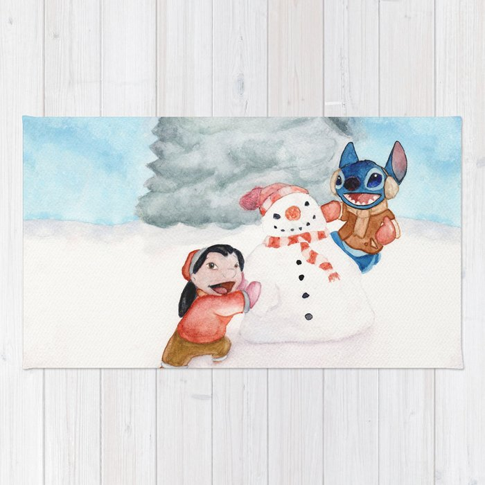 Lilo And Stitch Rug By Stachepop
