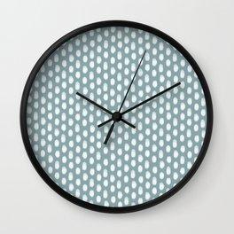 Dots . Blue Wall Clock