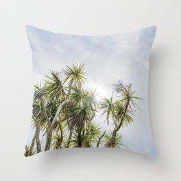 Cornish Palms Throw Pillow