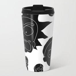 Rick and Morty whole cast (white) Travel Mug