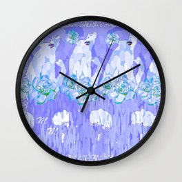 Never Apologize for Love M.M. 3 Wall Clock