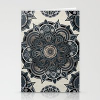 islam Stationery Cards featuring Silver Mandala by Mantra Mandala