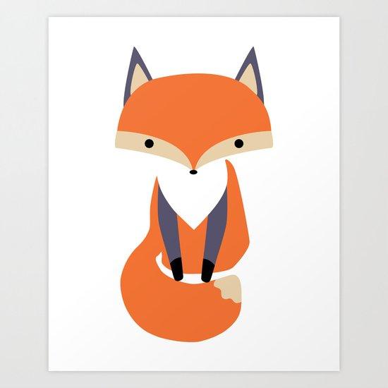 Little Fox Illustrion Art Print