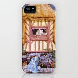 White rabbits house iPhone Case