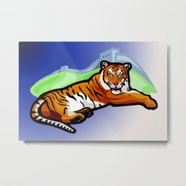 the Tiger  Der Tiger Metal Print