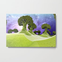 Broccoli Planet / / #fractal #fractals #3d Metal Print