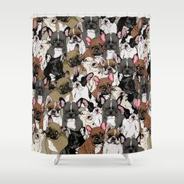 Social Frenchies Shower Curtain