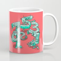 numbers Mugs featuring Odd Numbers by Nick Volkert