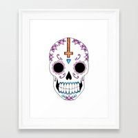 atheist Framed Art Prints featuring ATHEIST by Alice Suttle