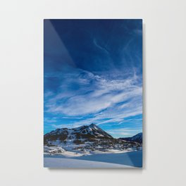 Wispy Clouds Above Crested Butte, Colorado. Metal Print