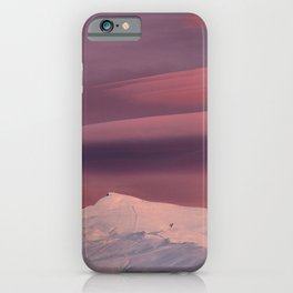 Lenticular clouds. Sierra Nevada at sunset. Veleta 11148 ft iPhone Case