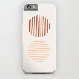 Terra Lined Circles iPhone Case