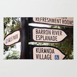 Kuranda Village Signs Rug
