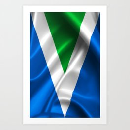 Vegan Flag on soft and shiny clothing Art Print