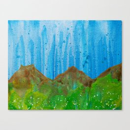 Rain on the Rockies Canvas Print
