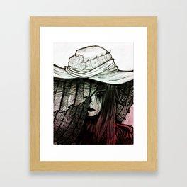 Daughter's Funeral Veil Framed Art Print