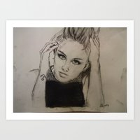 miley cyrus Art Prints featuring Miley Cyrus by Brittany Ketcham