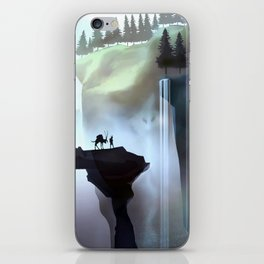 Fantasy landscape and waterfall iPhone Skin