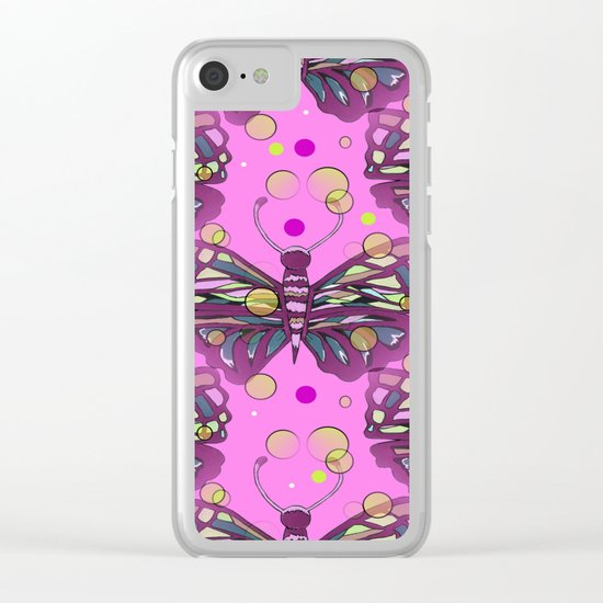 Butterfly Kisses Clear iPhone Case