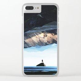 DEEP BREATH Clear iPhone Case