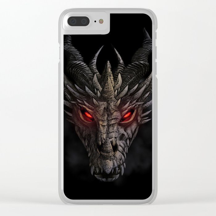 Red eyed dragon Clear iPhone Case