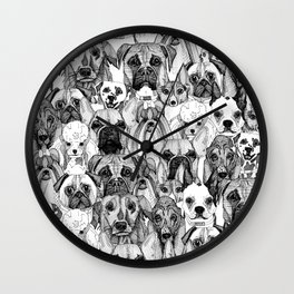 just dogs Wall Clock