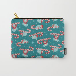 Candy Cane Sloth Carry-All Pouch