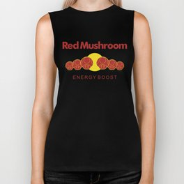 Red Mushroom Energy Boost Biker Tank