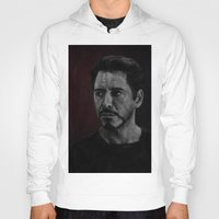 robert downey jr Hoodies featuring Robert Downey Jr by Oput Studios