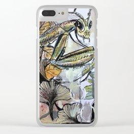 Peace, mantis Clear iPhone Case