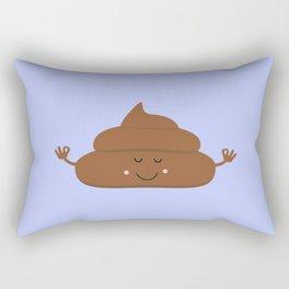 Meditating poo Rectangular Pillow
