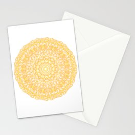 Mandala 13 / 1 yellow Citrine Stationery Cards