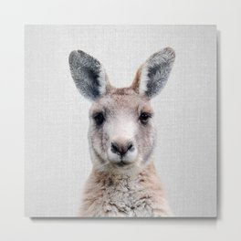 Kangaroo - Colorful Metal Print