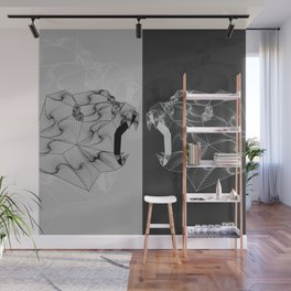 Gorilla Warfare Zentangle Wall Mural