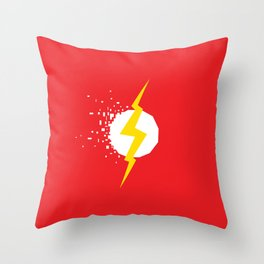 Square Heroes - Flash Throw Pillow