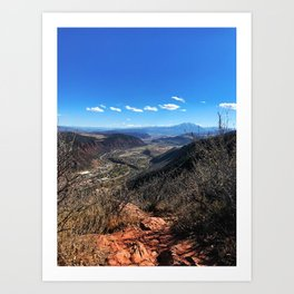 The Air Up There - Glenwood Springs, CO Art Print