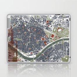 Seville city map engraving Laptop & iPad Skin