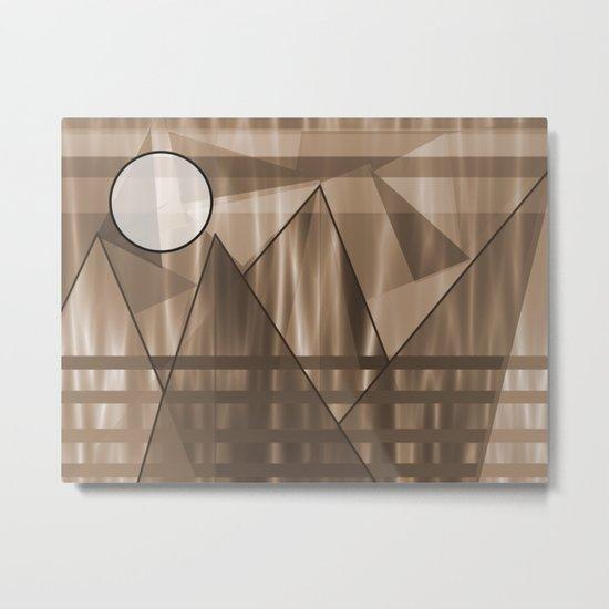 Sepia Landscape Metal Print