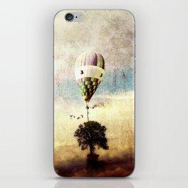 tree - air baloon iPhone Skin