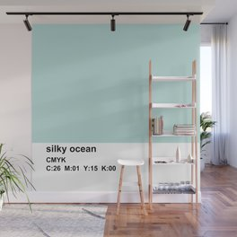 pantone colorblock cmyk blue Wall Mural