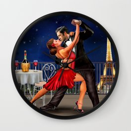 Dancing Under the Stars Wall Clock