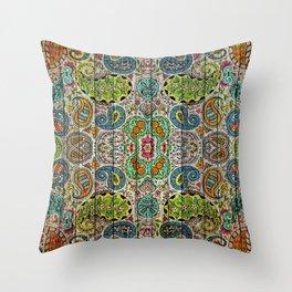 Kashmir on Wood 03 Throw Pillow