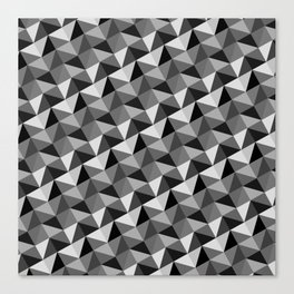 Pattern of triangles in gray shades Canvas Print