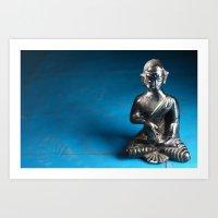 silver boedhha Art Print