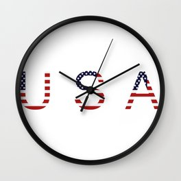 word United States of America Wall Clock
