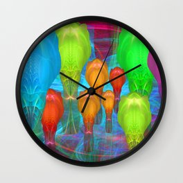Alien Family Wall Clock