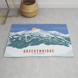Ski Breckenridge Colorado Landscape Rug