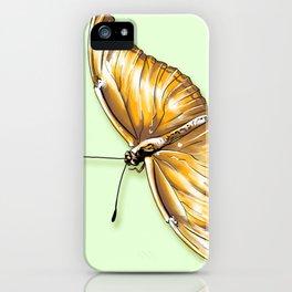 Papillon jaune iPhone Case
