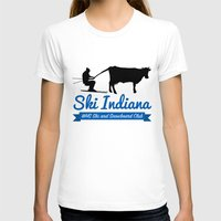 ski T-shirts featuring Ski Indiana  by Tyler Hull